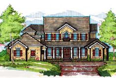 Plan W83330CL: Colonial, Traditional, Luxury, Southern House Plans & Home Designs