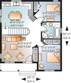 Popular Compact Cottage - 21713DR floor plan - Main Level