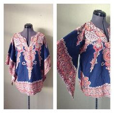 A personal favorite from my Etsy shop https://www.etsy.com/listing/266740189/vintage-70s-bohemian-dashiki-tunic-angel