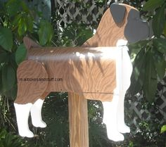 Dog Mailbox ~ Unique Dog Mailboxes shaped like specific Dog breeds. Our Dog Mailboxes can be custom painted to look like your Dog