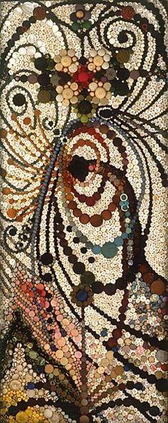 Buttons as mosaic tiles!