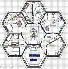 Hexagon House Floor Plan Design on Asymmetric Hexagon House Floor Plans