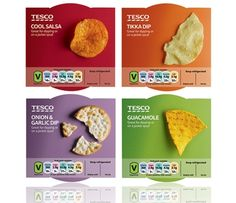 Honey re-designs ready-meal packaging for Tesco - simple photography with vibrant, modern colours Chip Packaging, Packaging Snack, Food Packaging Design, Brand Packaging, Packaging Ideas, Baby Food Recipes, Snack Recipes, Snacks, Food Design