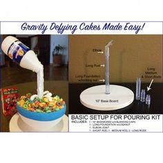 Cake Frame - Gravity Defying Cakes Made Easy Gravity Defying Cake, Gravity Cake, Cake Structure, Cake Frame, Fondant Icing, Cake Business, Cake Decorating Tips, Cake Tutorial, Party Cakes