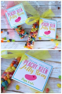 I think you're peachy keen jelly bean easter printable