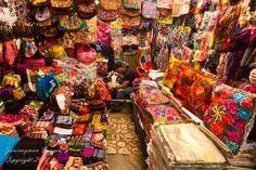 Textiles in the Artisan Market in San Cristobal de las Casas