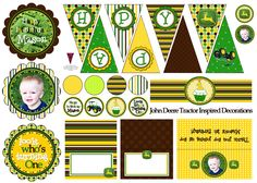 John Deere Party so many cute ideas I could do with my cricut