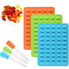 Gummy Molds, Candy Molds, Gummy Bear Candy, Gummy Bears, Gum Drops, Chocolate Molds, Ice Cube Trays, Jelly, Amazon