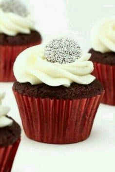 Chocolate Christmas Cupcakes ♡