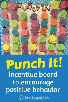 The Punch It! board is a fun way to encourage positive behavior and effort in the classroom. Students get to punch a cup to reveal a reward for showing kindness, co-operating, listening, working well in groups or helping the teacher. Easy to make with ins Student Incentives, Classroom Incentives, Behavior Incentives, Classroom Coupons, Behaviour Management, Classroom Management, Kindness Projects, Sr1, Classroom Organization