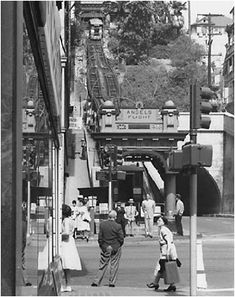 angels flight railway | Angels Flight ran atop the Third Street tunnel. The far right photo ...