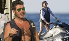 Simon Cowell and Lauren Silverman enjoy a romantic day of water sports