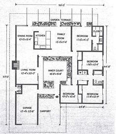 20+ Best Eichler floor plans images | floor plans, house ...