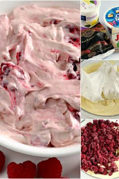 Raspberry Vanilla Jello Salad is one of the easiest recipes you will ever make and it is perfect as a side dish or even dessert. This recipe only requires 4 ing Fluff Desserts, Jello Desserts, Dessert Salads, Easy Desserts, Dessert Recipes, Jello Salads, Salad Recipes, Pudding Desserts, Delicious Desserts