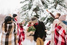 Дух Рождества: зимняя свадьба в ярко-красных тонах - The-wedding.ru