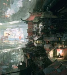 City Scene by Theo Prins