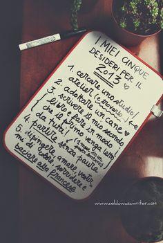 5 desideri per il 2013