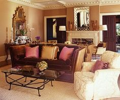 Classic Chic Home: Timeless and Traditional Living Rooms Glam Living Room, Living Room On A Budget, Living Room With Fireplace, Living Room Colors, Formal Living Rooms, Living Room Sets, Rugs In Living Room, Living Room Decor, Knole Sofa