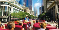 Passeio de ônibus turístico em Chicago #viagem #ny #nyc #ny #novayork