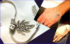 Silver+Personalized+Unisex+Bracelet,Marijuana+Leaf+from+CamelysUnikatBijoux+by+DaWanda.com