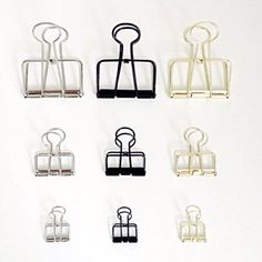 Journal Paper Binder Clips in Gold/Black/Silver (Sets of 3 similar colour) by MyWriteStuff on Etsy https://www.etsy.com/listing/221805217/journal-paper-binder-clips-in