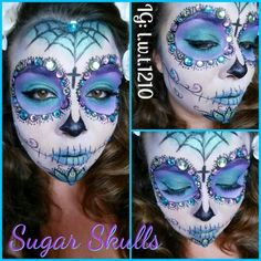 Sugar skull makeup done by mua! Follow me on Instagram!!! L.w.t.1210