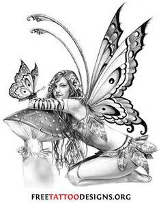 Fairy Myth Mythical Mystical Legend Elf Fairy Fae Wings Fantasy Elves Faries Sprite Nymph Pixie Faeries Enchantment Forest Whimsical Mischievous Coloring pages colouring adult detailed advanced printable Kleuren voor volwassenen coloriage pour adulte anti-stress kleurplaat voor volwassenen Line Art Black and White (Selina Fenech?)