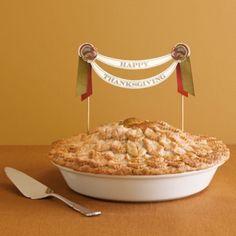 Thanksgiving pie banner