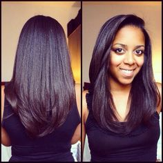Relaxed hair can be healthy too. #HairGoals