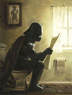 Star Wars Darth Vader Parody Wall Art