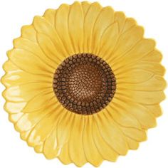 The sunflower plates I just bought at Pier 1 Imports to rest on top of dark green square plates.