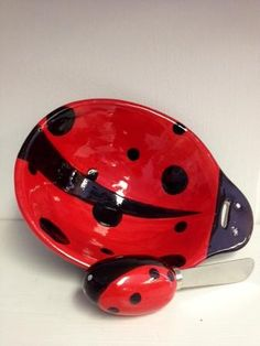 Ladybug Dip Bowl and Spreader Set  This Ladybug Dip Bowl and Spreader is the perfect addition to any party. Use it for the coming holidays and watch your guests be impressed.
