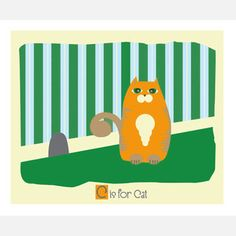 C is for Cat 14x11 now featured on Fab.