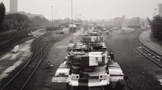 British Army of Rhine BAOR Chieftain tank row. Military Pictures, British Army, Vietnam War, Cold War, Us Travel, Military Vehicles, The Row, Battle, Germany