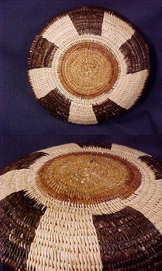 Wounaan Indian Plate Basket-Panama #10708