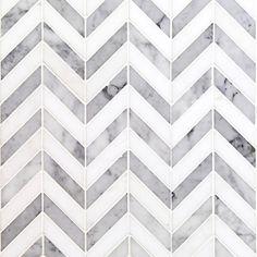 Talon White Carrera and Thassos Marble Tile