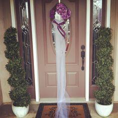 Bridal shower veil wreath! For the front door!