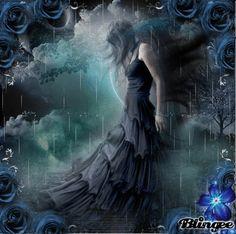 sumergida en la oscuridad Red Moon, Mystic, Fantasy Art, Gothic, Nostalgia, Gifs, Victorian, Black, Flower