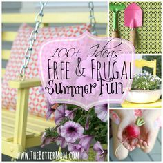 It's time to kick off Summer fun! 100+ FREE and Frugal Summer Ideas! ~www.thebettermom.com