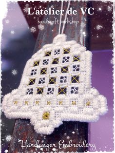 Hardanger Embroidery - X'mas Bell