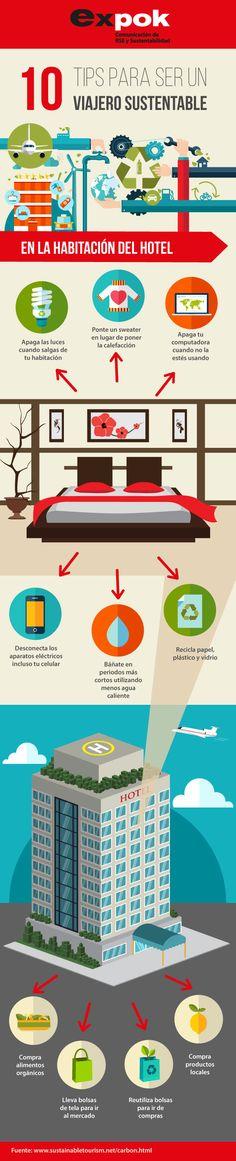 En la siguiente infografía encontrarás 10 tips para que disfrutes de unas vacaciones sustentables, reduciendo nuestro impacto ambiental aún antes de salir de casa. http://www.expoknews.com/guia-para-ser-un-viajero-responsable/