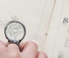 STATEMENT ring MAGNIFER Loupe ring useful ring ring por MARIAELA