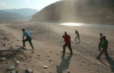 August 13, 2012 – Rio Mantaro, Peru – Previous Amazon River explorer Piotr Chmielinski, far left, leads the group on a scouting trip along the Rio Mantaro at the confluence of the Rio Huarpa downstream from Huancayo. (Photo by Erich Schlegel/zReportage via ZUMA Press) http://avaxnews.net/appealing/The_Amazon_Express_Andes_to_Atlantic_Adventure.html