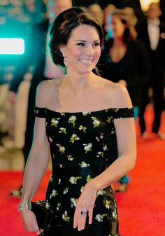 """ Catherine, The Duchess of Cambridge shows off a cute smile as she attends the 70th EE British Academy Film Awards (BAFTA) at Royal Albert Hall. 