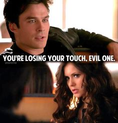 Katherine and Damon..... i am still so happy i got to see katherine swept away to the depths of hell.....