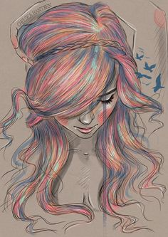 Raving Lunatic - martinekenblog:Beautiful drawings by Chelsea... Love the use of color