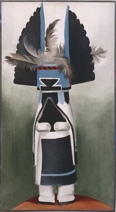 Georgia O'Keeffe, Kachina, 1934. Oil on canvas. 22 x 12 in. Private collection. © Georgia O'Keeffe Museum