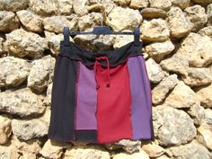 Urban Shabby Chic Upcycled Skirt  Panel Skirt by NuLifeClothing, $30.00