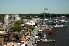 Indiana Beach - A great little boardwalk park. Coasters right over the water!