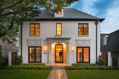 tan stucco w black windows tan stucco w black windowsTintagel, Cornwall Supposed to be the home of King ArthurGünstige Möbel Ideen French Country Exterior, Design Exterior, Black Windows, Steel Windows, Dream House Exterior, Classic House Exterior, Facade House, House Goals, Future House